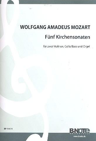5 Kirchensonaten: für 2 Violinen, Violoncello (Baß)