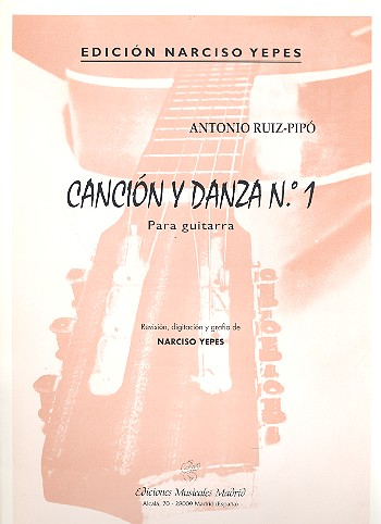 Cancion y danza no.1: para guitarra