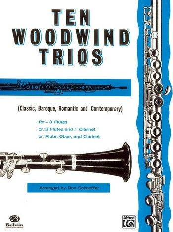 10 Woodwind Trios: for 3 woodwind instruments score