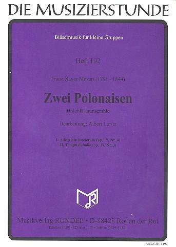 2 Polonaisen: für Holzbläser-Ensemble Partitur und Stimmen