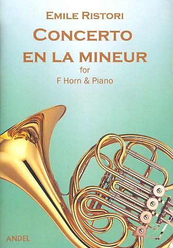 Concerto en la mineur pour cor en fa et orchestre: pour cor en fa et piano