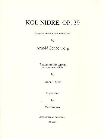 Kol Nidre opus.39: for speaker, chorus and orchestra