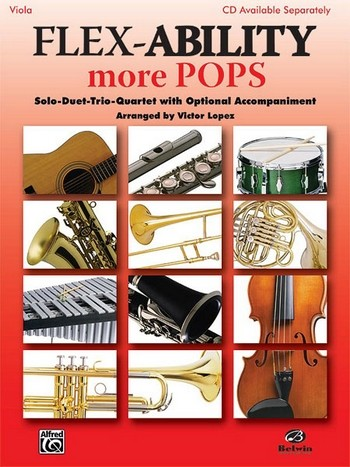 Flex-Ability more Pops: for 4 instruments viola score