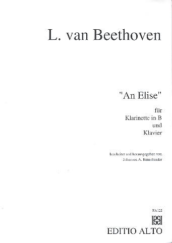 An Elise: für Klarinette und Klavier