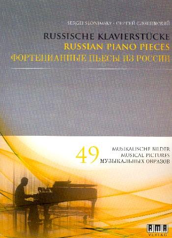 Slonimsky, Sergej - Russische Klavierstücke (+CD)