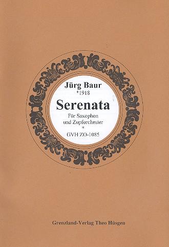 Serenata: für Saxophon und Zupforchester