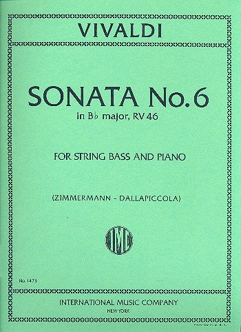 Vivaldi, Antonio - Sonata b flat major RV46 : for string bass and