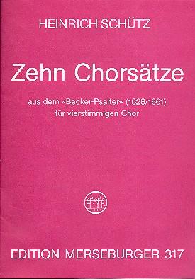 10 Chorsätze aus dem Becker-Psalter: für gem CHor a cappella