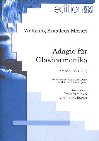 Adagio für Glasharmonika KV356 (KV617a): für Flöte (Violine) und Gitarre