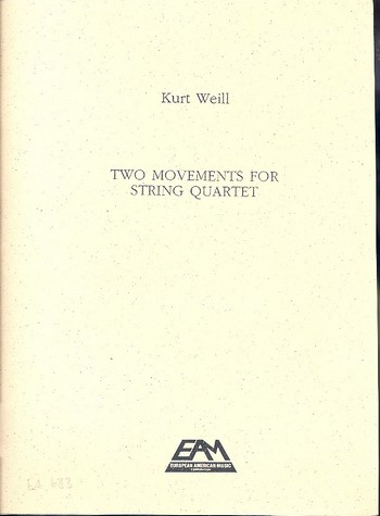 2 Movements op.8: for string quartet score