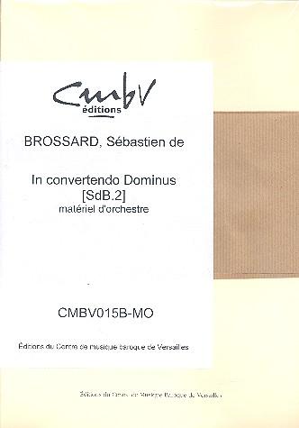 In convertendo dominus: pour choeur mixte et orchestre à cordes