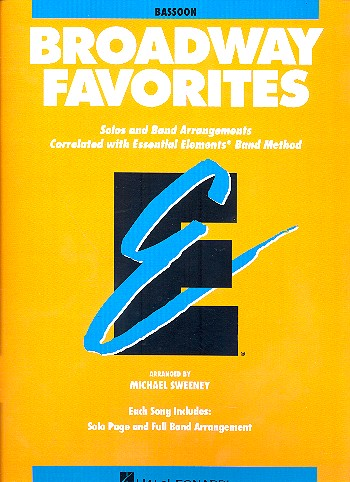 Broadway Favorites: for concert band bassoon