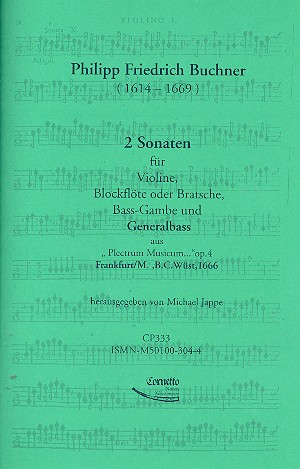 2 Sonaten op.4: für Violine, Blockflöte (Viola), Viola da gamba und Bc