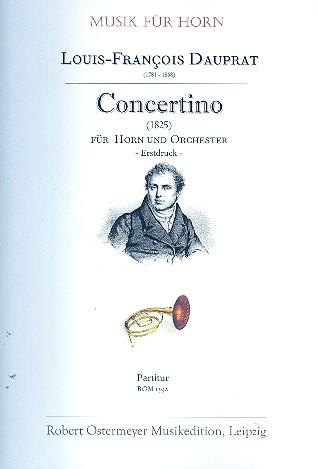 Concertino: für Horn und Orchester Partitur