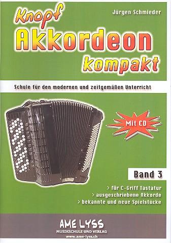 Knopfakkordeon kompakt Band 3 (+CD)