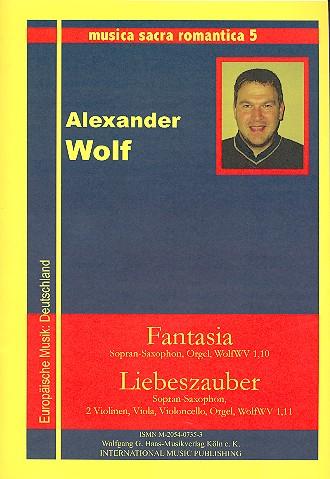 2 romantische Stücke: für Sopransaxophon, Streicher und Orgel