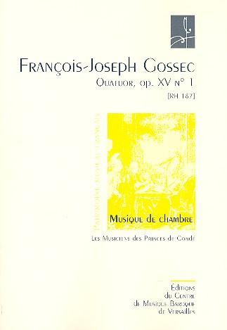 Quator opus.15,1 RH187: por 2 violons, alto et violoncelle