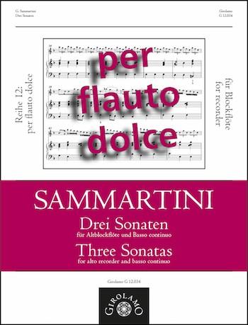 Sammartini, Giuseppe - 3 Sonaten :