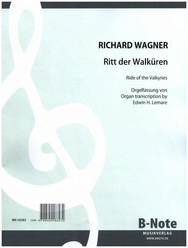 Wagner, Richard - Ritt der Walküren : für Orgel