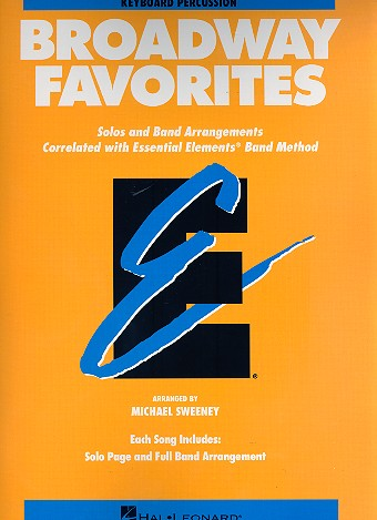 Broadway Favorites: for concert band keyboard/percussion
