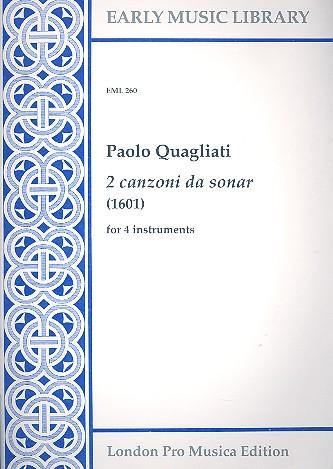 2 Canzoni da sonar: for 4 instruments 4 scores