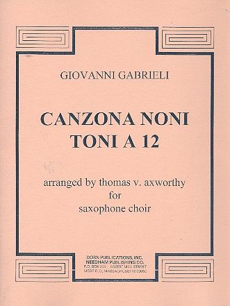 Canzona noni toni a 12: for saxophone choir