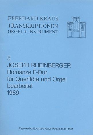 Romanze F-Dur: für Flöte und Orgel