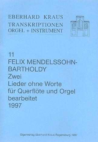 2 Lieder ohne Worte: für Flöte und Orgel