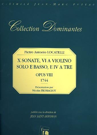 10 Sonaten opus.8: für 1-2 Violinen und Bc Stimmen, Faksimile