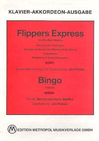 Flippers Express und Bingo: für Klavier (Akkordeon) (mit Text und Akkorden)