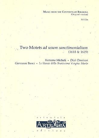 2 Motets ad usum sanctimonialium: für gem Chor und Bc