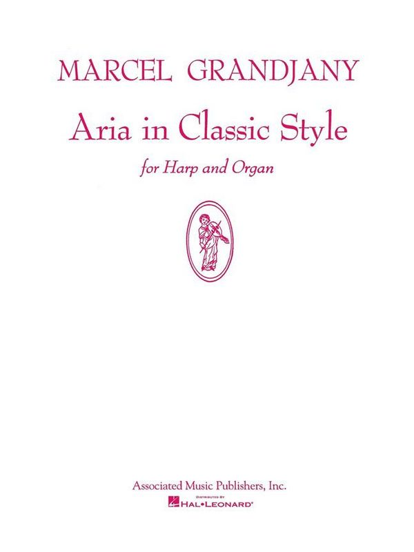 Aria in classic Style: for harp and organ