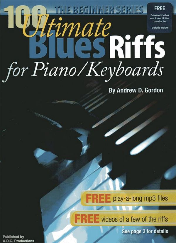 100 ultimate Blues Riffs (+CD): for piano (keyboard)