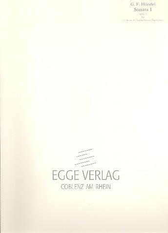 Händel, Georg Friedrich - Sonate op.5,1 : für 2 Oboen und Englischhorn