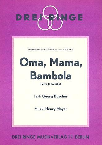 Oma Mama Bambola: Einzelausgabe Gesang und Klavier