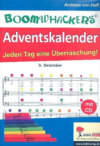 Boomwhackers-Adventskalender (+CD-ROM): für Boomwhackers (Klassenmusizieren)