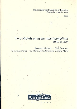 2 Motets ad usum sanctimonialium: for female chorus and Bc