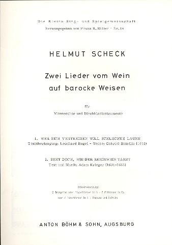 2 Lieder vom Wein auf barocke Weisen: für Männerchor und Blechbläser