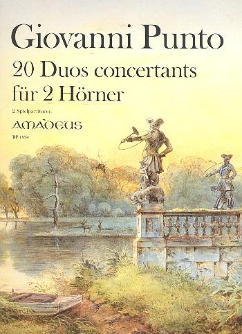 20 Duos concertants: für 2 Hörner 2 Spielpartituren