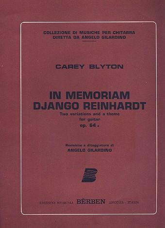 In memoriam Django Reinhardt opus.64a: for guitar
