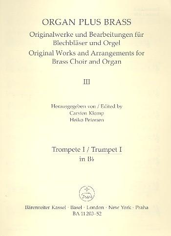 Toccata festiva: für Orgel und Blechbläser Trompete 1