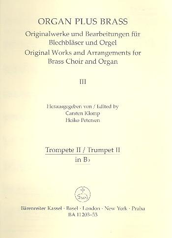 Toccata festiva: für Orgel und Blechbläser Trompete 2