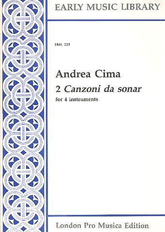 2 Canzoni da sonar: for 4 instruments (SATB)