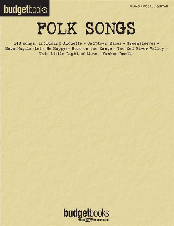 Budgetbooks Folk Songs songbook piano/vocal/guitar