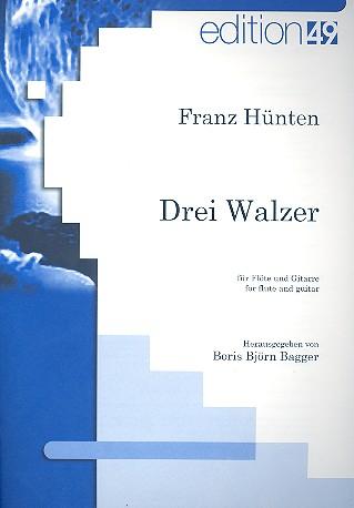 3 Walzer: für Flöte und Gitarre Partitur und Stimme