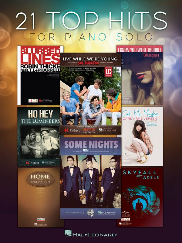21 Top Hits: for piano solo