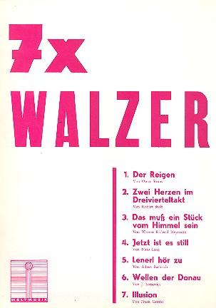 7 x Walzer: für eine Singstimme und Klavier