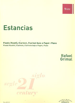 Estancias: for flute, clarinet, bass clarinet (basson) and piano