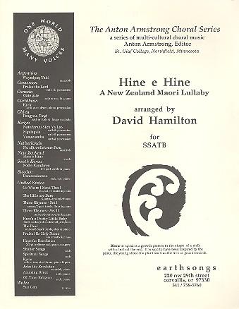 Hine e Hine: for 5-part mixed chorus (SSATB) a cappella