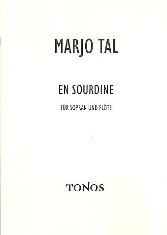 En sourdine: für Sopran und Flöte